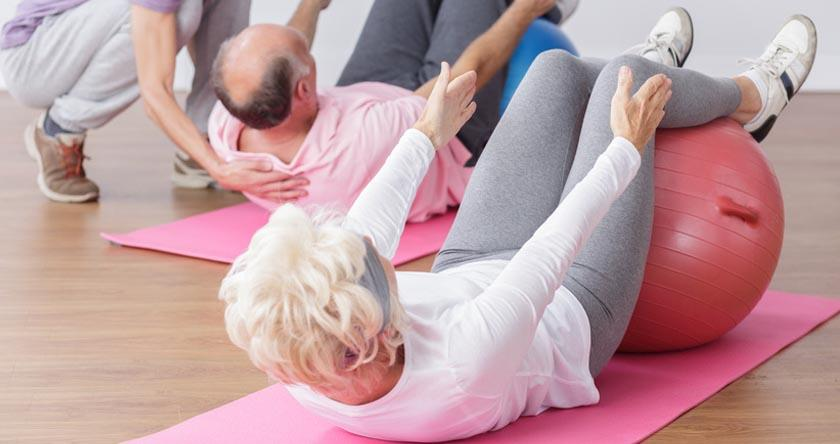 Gymnastique pilates senior
